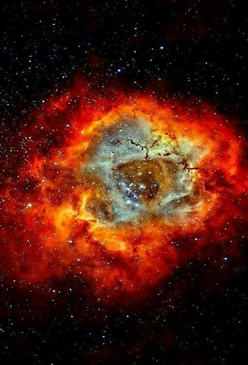 La nebulosa Roseta en hidrógeno y oxígeno.. Entonces, con el humo y los huesos vas a estar bien.