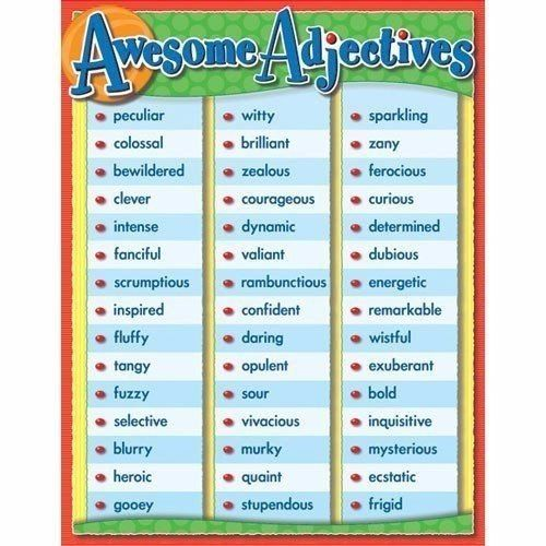 New SHORT LIST OF USEFUL ADJECTIVES