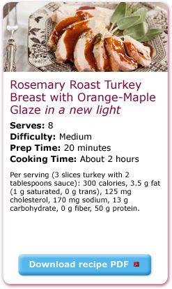 rosemary roast turkey with orange maple glaze, in a new light