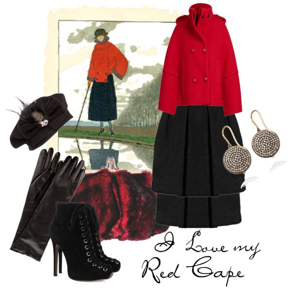 """I Love My Red Cape"" by moodycat on Polyvore"