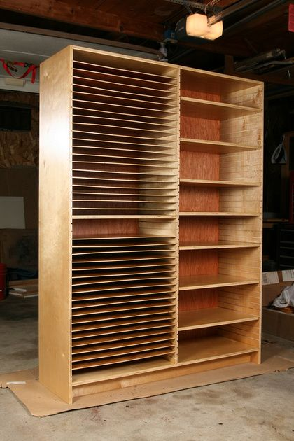 Art Storage Cabinet 1- i know what hubby is building next!