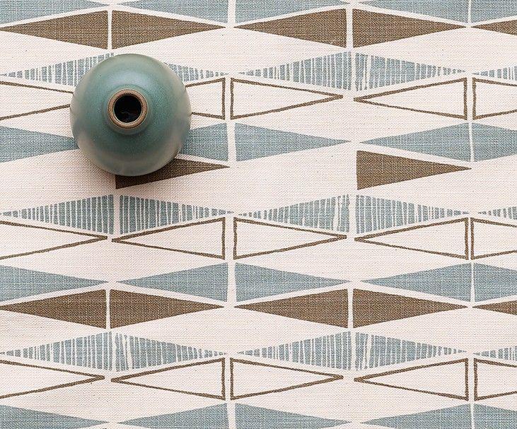 Skinny laMinx Triangles Runner, Wedgewood - Winter Collection - Heath Ceramics