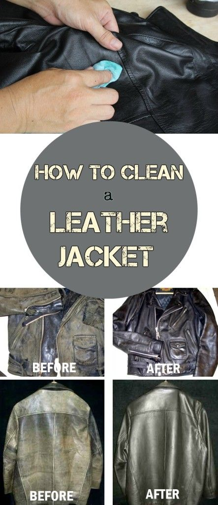 Learn how to clean a leather jacket.