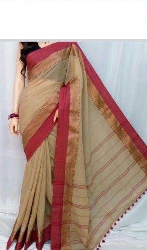 handwoven soft pure cotton saree