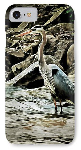 Great Blue Heron Phone Case for Sale by Leslie Montgomery.