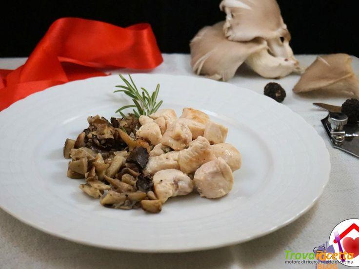 Pollo con pleurotus e tartufo  #ricette #food #recipes