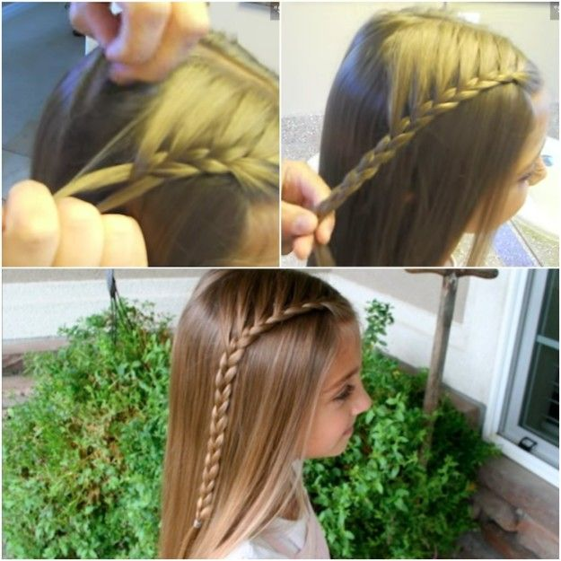 Try this simple lace braid for starters. | 17 Cute And Easy Hairstyles For Kids