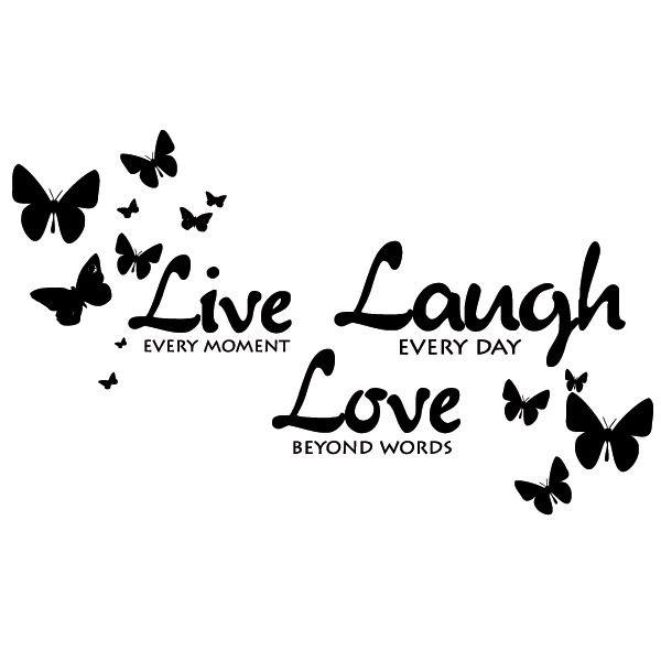 Live Laugh Love Japanese Symbols Quotes