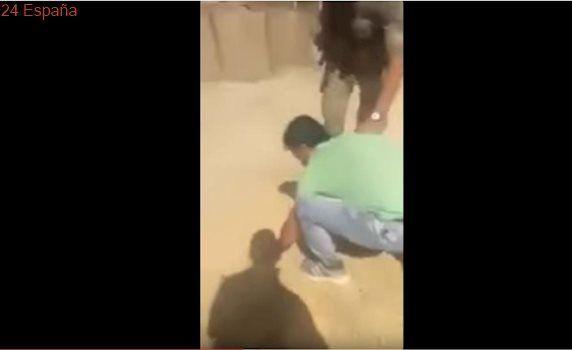 El vídeo del brutal trato que dispensaron tres soldados turcos a unos refugiados sirios