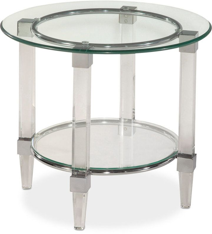 beautiful end table is great for any decor style cristal round end table