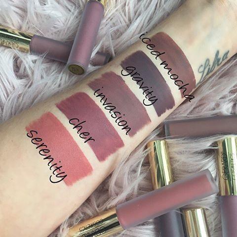 Gerard Cosmetics Liquid Lipsticks Swatches