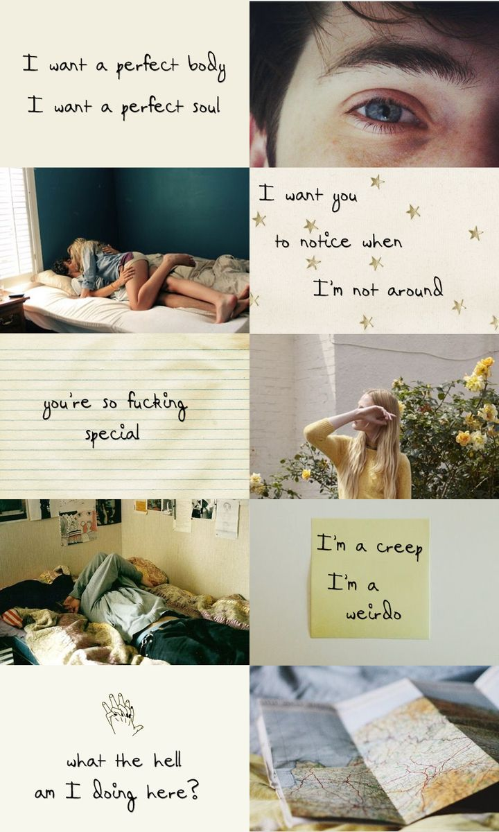 theodore finch & violet markey + aesthetic (all the bright places) ; creep - radiohead