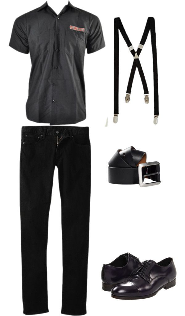 """Halloween: Rockabilly Men"" by elicharest on Polyvore"