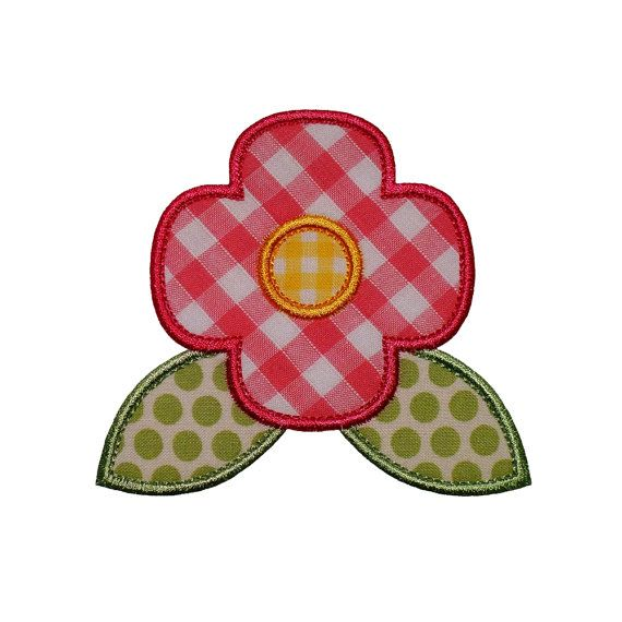 "Poppy Flower Appliques Machine Embroidery Designs Applique Pattern in 5 sizes 2"", 3"", 4"", 5"" and 6"""