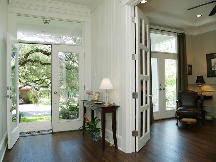 Stupendous Back Door Design Ideas For Graceful Entry Traditional With Austin Beadboard Console Table Foyer French Doors Front Glass