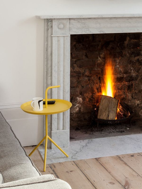 Refurbished Flat in Islington by Architecture for London in interior design - love the inset marble hearth