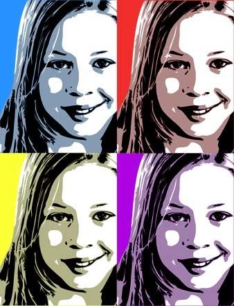 Cute pop art canvas print personalised art australia photos on canvas sydney custom