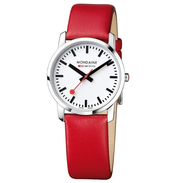A wristwatch based on the traditional Swiss Railways Clock. Easily readable and instantly recognisable Mondaine watches are a design classic.