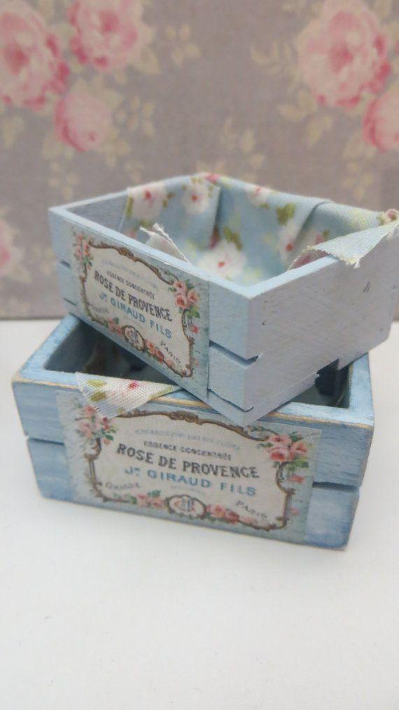 A single dollhouse miniature crate in scale 1:12