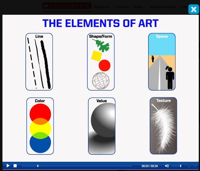 Elements of Art video from Scholastic Art Magazine. Visit scholastic.com/art for more art resources.
