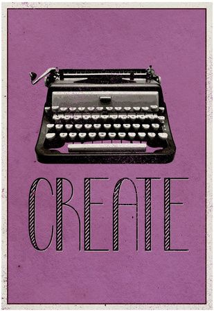 Create Retro Typewriter Player Art Poster Print Poster at AllPosters.com