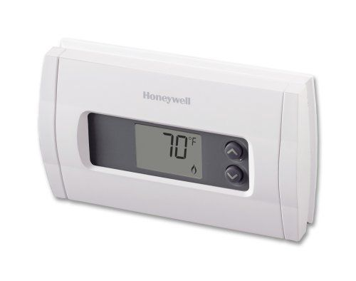 Honeywell RTH110B Horizontal Digital Manual Thermostat by Honeywell. $25.60. From the Manufacturer                This Honeywell digital non-programmable thermostat features advanced temperature monitoring to minimize temperature swings ensuring your complete comfort. The RTH110B also keeps the temperature settings in case of a power outage. Simple peace of mind and total home comfort.                                    Product Description                Comfort Dig...