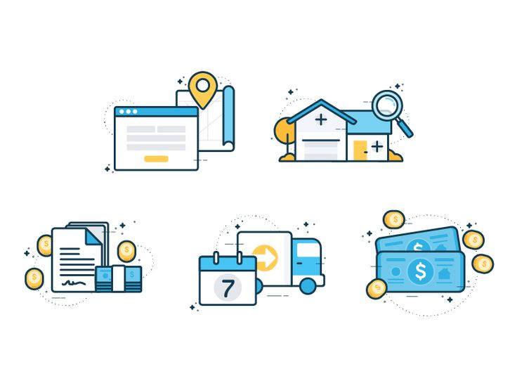 Housing Icons by Vy Tat #Design Popular #Dribbble #shots