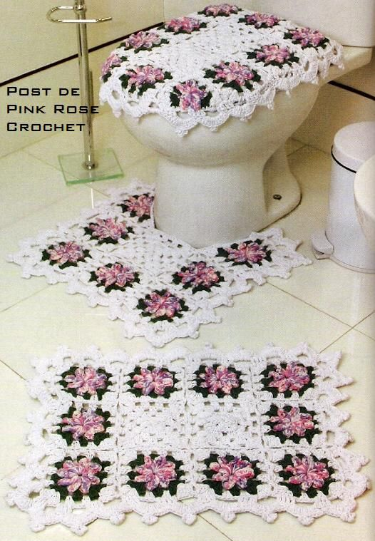 Bathroom set crochet with chart®