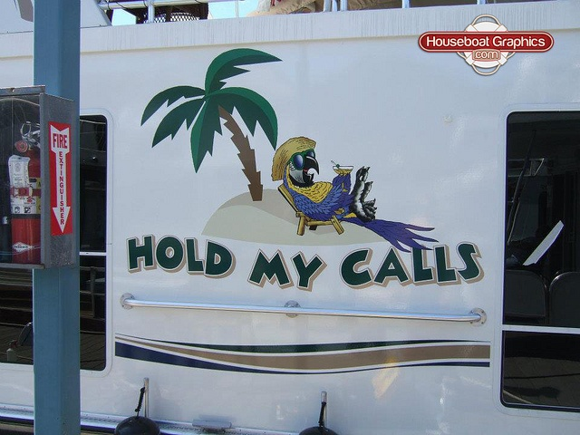Best Boat Names Images On Pinterest - Custom houseboat graphics