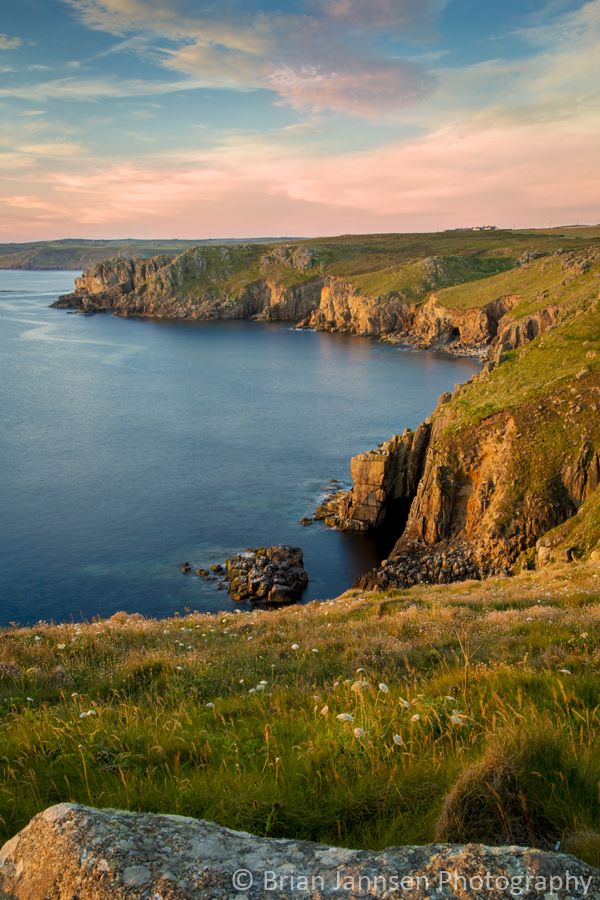 Cornwall coast near Lands End, England.  © Brian Jannsen Photography