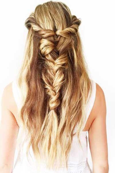Yarı Toplu Saç Modelleri
