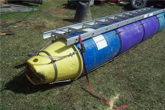 Plastic Barrel Pontoon Boat Imageboard Pontoon Boat