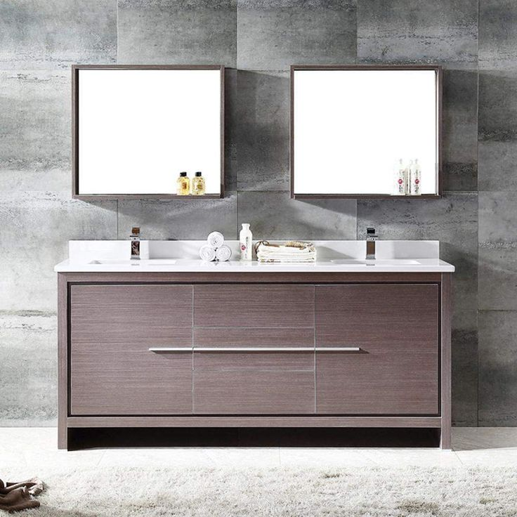 Fresca Allier 72 inch Modern Double Sink Vanity with Mirror FVN8172