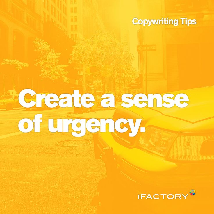 Copywriting Tips: Create a sense of urgency. #copy #ifactory #ifactorydigital #digital #copywriting #urgency #advertising #seo #tips #tricks #bestpractice