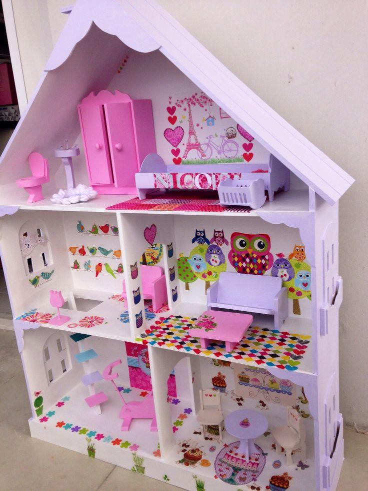 13 best images about casa de mu ecas on pinterest felt - Casa para barbies ...