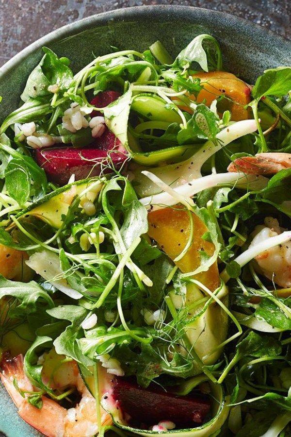 Beet Shrimp Winter Salad Recipe Winter Salad Winter Salad Recipes Salad Recipes Healthy Dinner