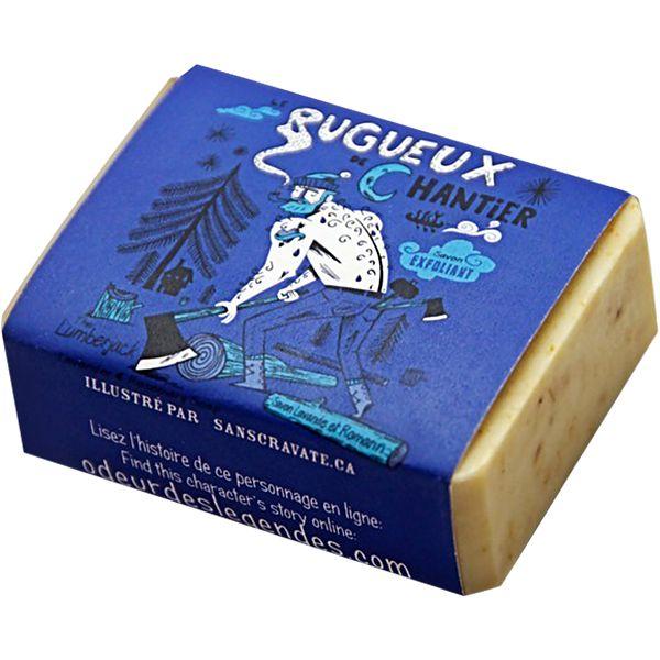 Savon corps et visage légèrement exfoliant.  Contient de la lavande séchée qui stimule la circulation sanguine.  Fragrances de lavande et romarin.  Ingrédients ...