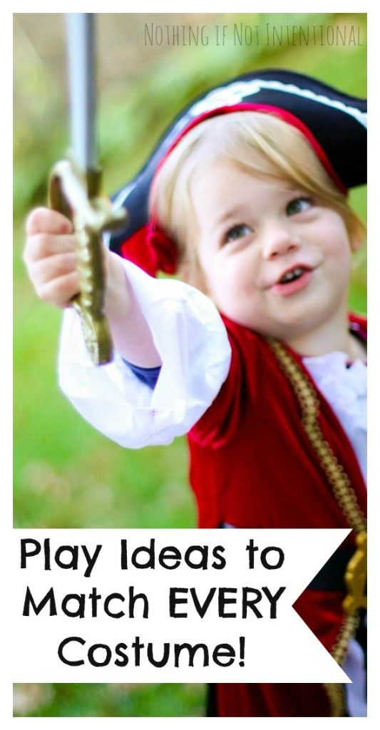 Play ideas to match EVERY Halloween costume. I need to keep these ideas in mind when my kids dress up and pretend after Halloween, too!