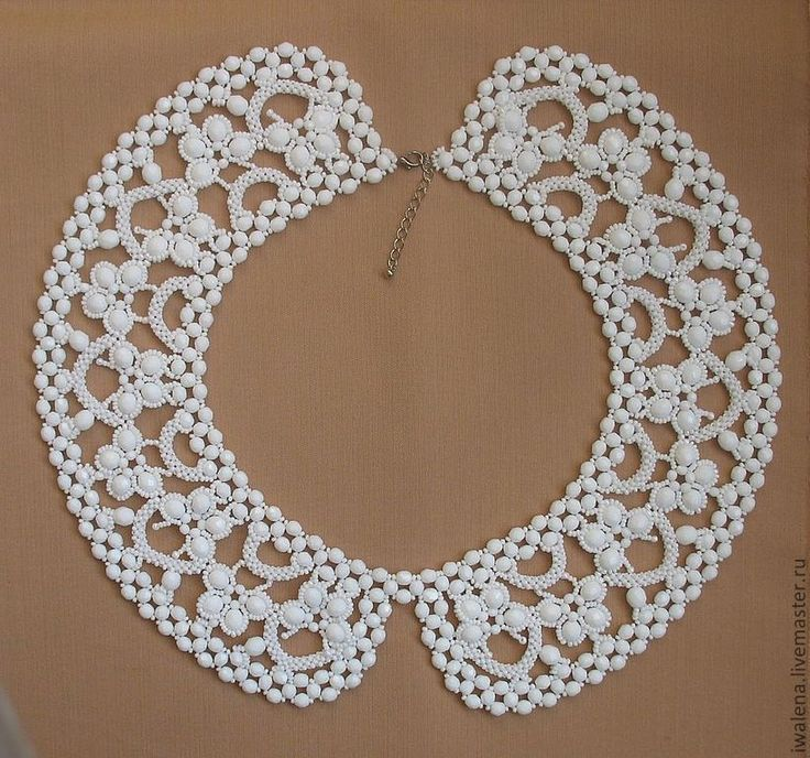 Купить Воротник с бабочками - белый, орнамент, воротничок, воротничок съемный, воротничок ажурный, воротник в подарок