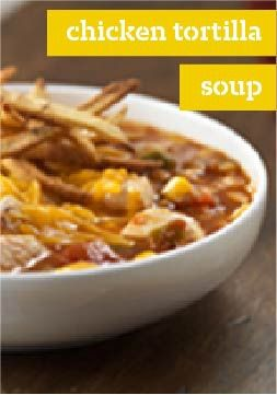 Chicken Tortilla Soup — A Southwestern cousin of Mom's chicken soup, this recipe has a kick with a crispy topping. And, like its popular relative, it'll make you feel good all over.