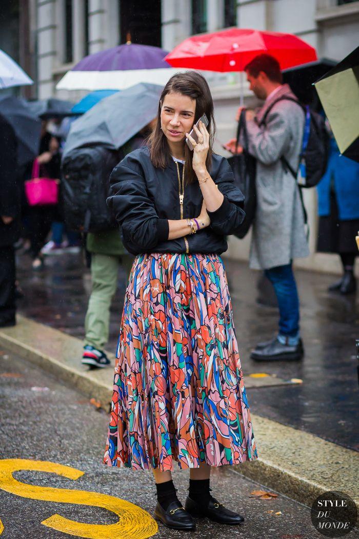 Milan Fashion Week FW 2016 Street Style: Natasha Goldenberg - STYLE DU MONDE   Street Style Street Fashion Photos
