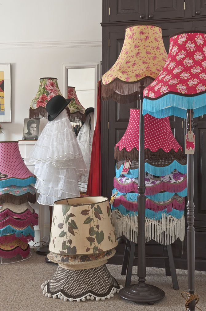My kind of lampshades. Fabulous colourful lampshades by Rockville @Wealdenfairs .com .com