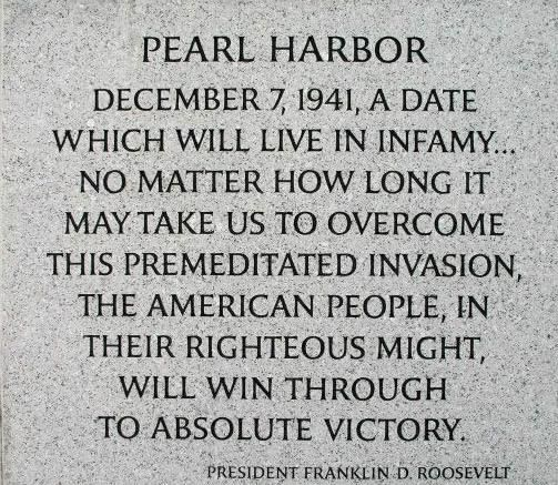 Pearl Harbor ~ December 7, 1941 my Al was on his way to Pearl habor and left San Francisco on Dec. 6 on Dec 7th they recieved word to turn around and come home.