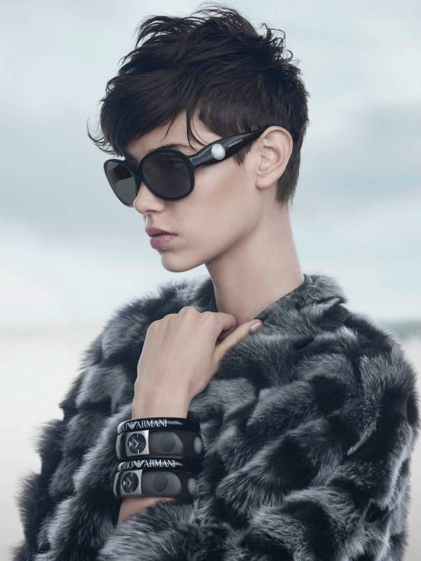 Amra Cerkezovic by Boo George for Emporio Armani Fall Winter 2014-2015