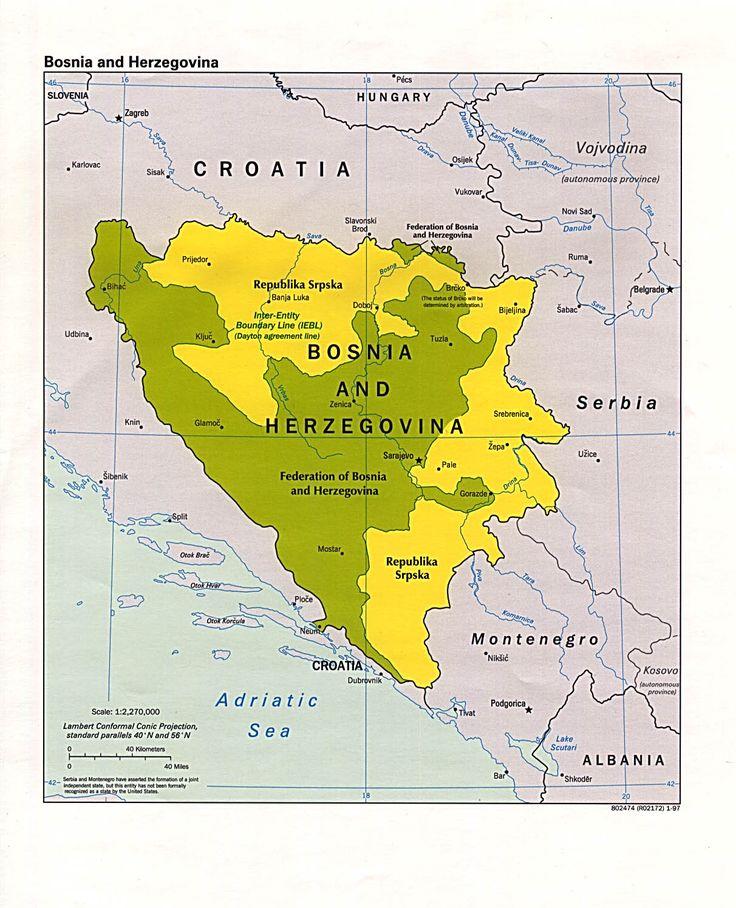 Bosnia Herzegovina map  ...  Croatia .... Serbia