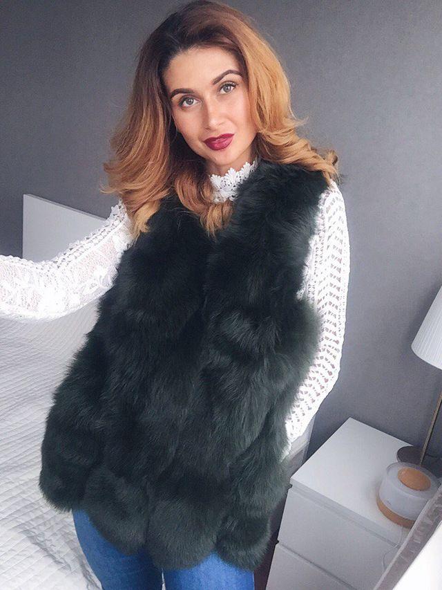 Real Fur Vest Women Winter Fashion Style Natural Fur Vest Lady Whole Fox Fur Vests Top Quality Real Fur Coat BF-V0120