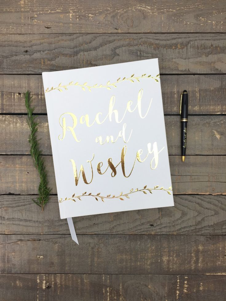 avellana press wedding goldrustic weddingguestbook ideaswedding