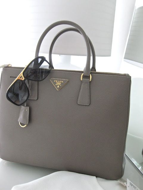 prada grey handbag
