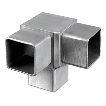 Square Line Flush Fitting 90° 3-Way Tube Connector