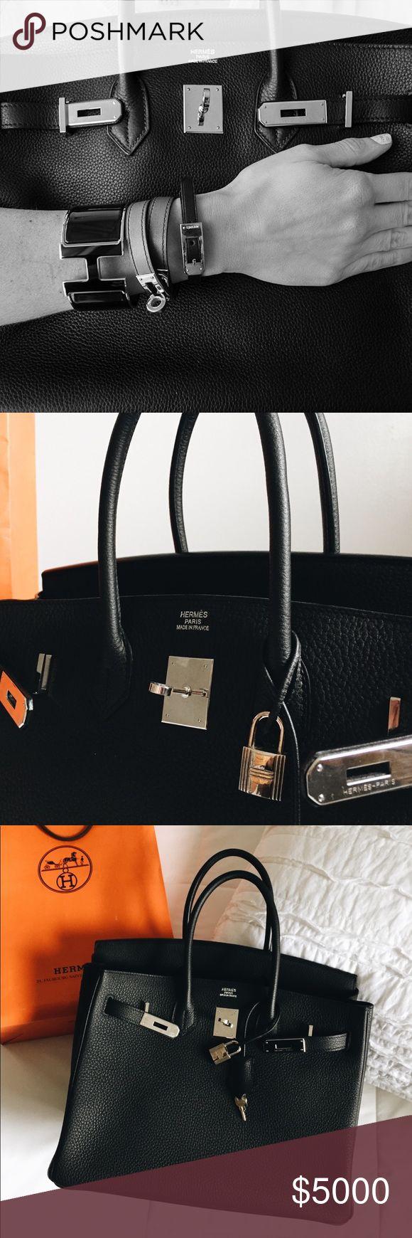 Hermes Birkin 35cm Clemence Leather Hermes Birkin 35cm Clemence Leather Palladium hardware  **Pre-loved Hermes Bags